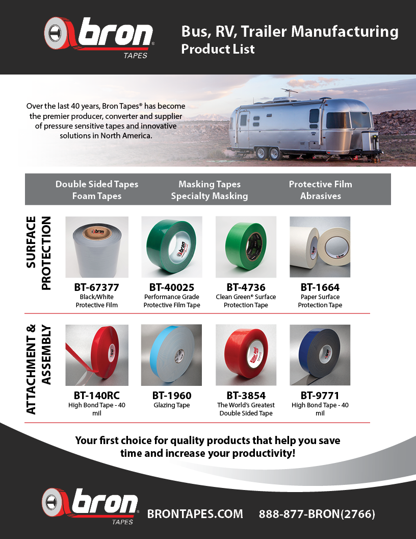 Bus, RV, Trailer Manufacturing Products from Bron Tapes