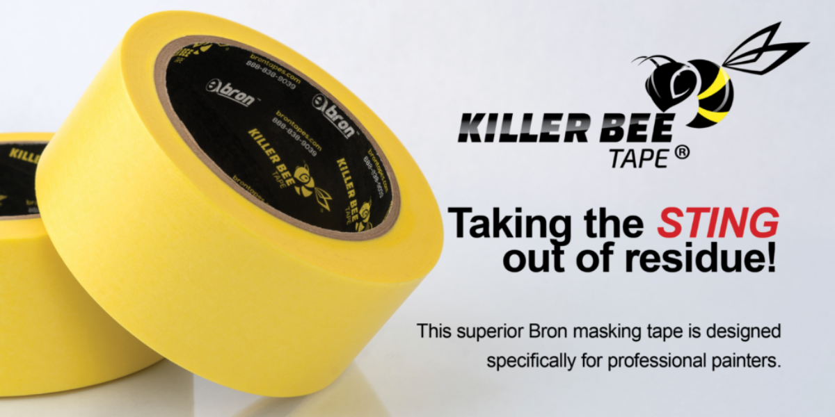 Killer Bee Professional Painters Tape - Taking the sting out of residue!