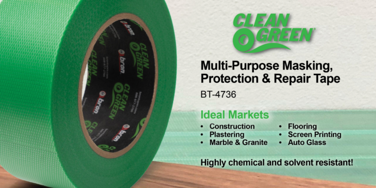 Clean Green Multipurpose Masking, Protection, and Repair Tape
